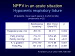 nppv in an acute situation hypoxemic respiratory failure