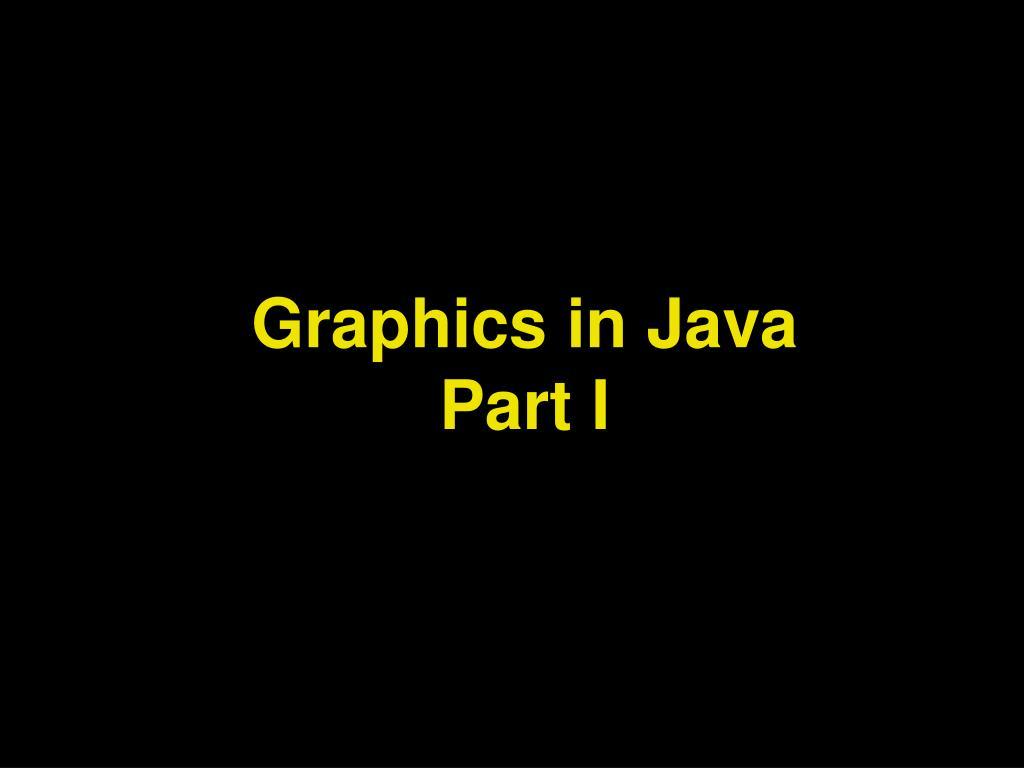 graphics in java part i l.