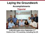laying the groundwork7