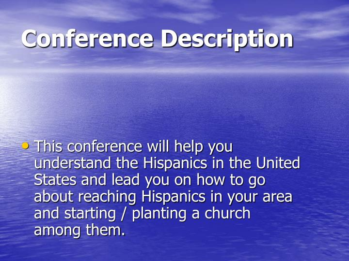 Conference description