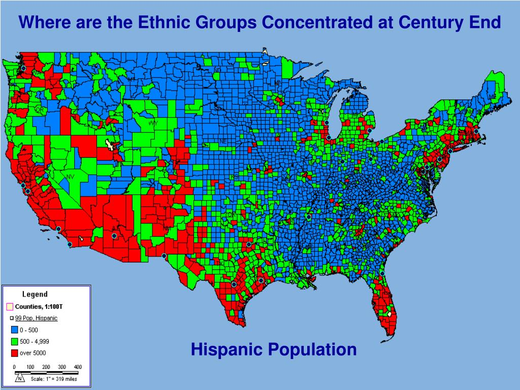 Where are the Ethnic Groups Concentrated at Century End