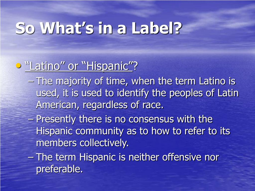 So What's in a Label?