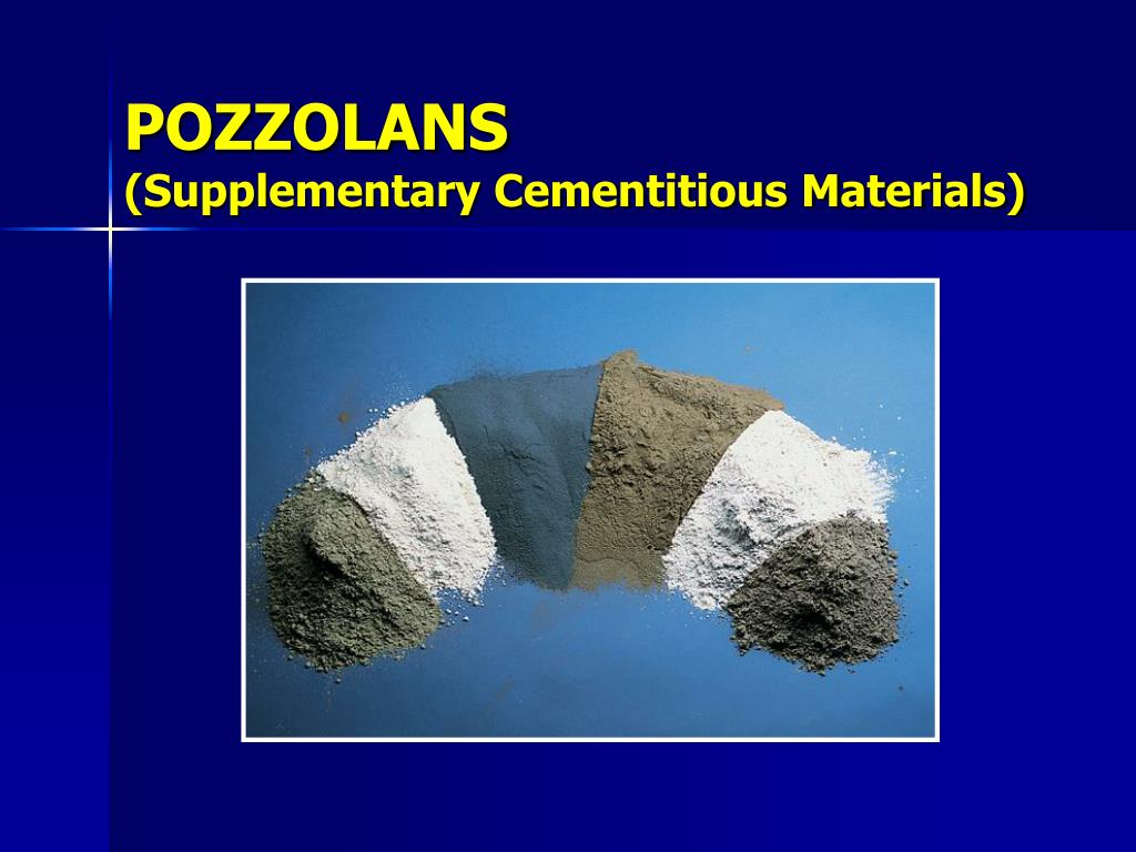 pozzolans supplementary cementitious materials l.