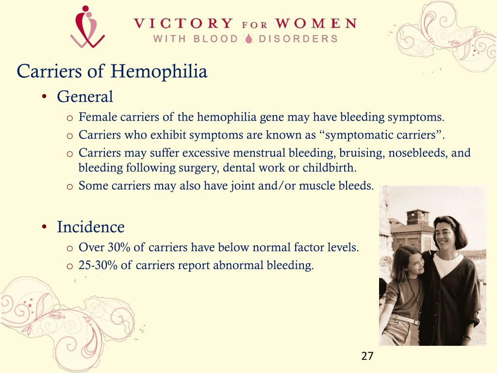 Carriers of Hemophilia