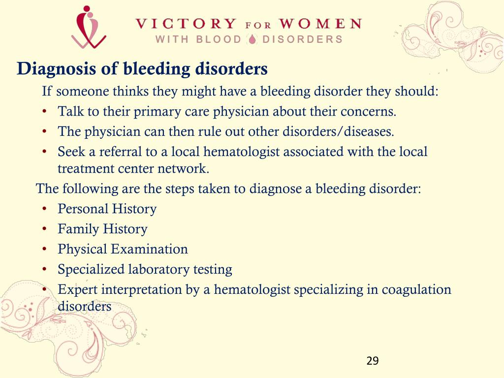 Diagnosis of bleeding disorders