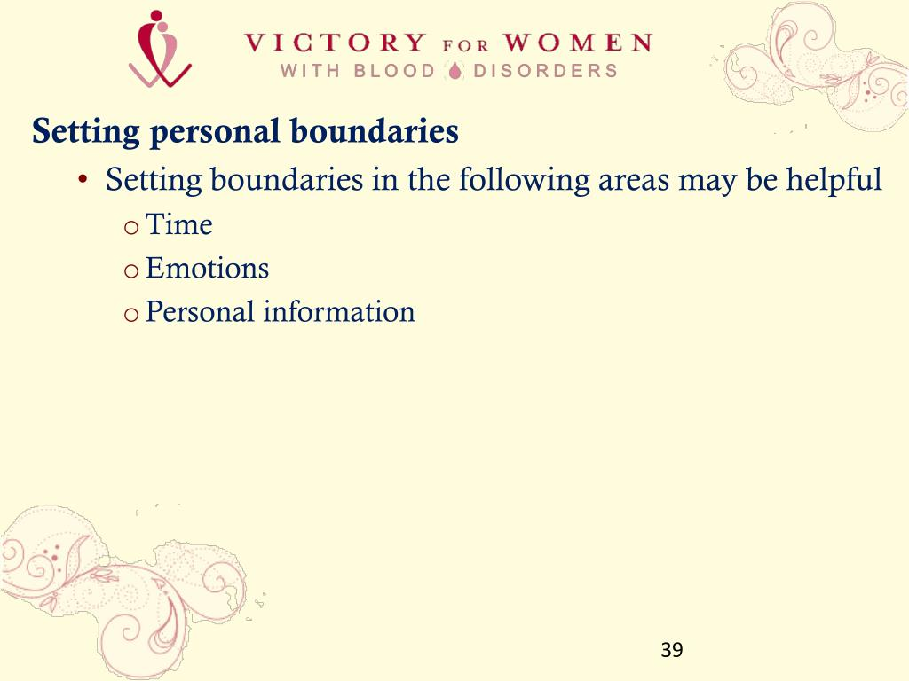 Setting personal boundaries