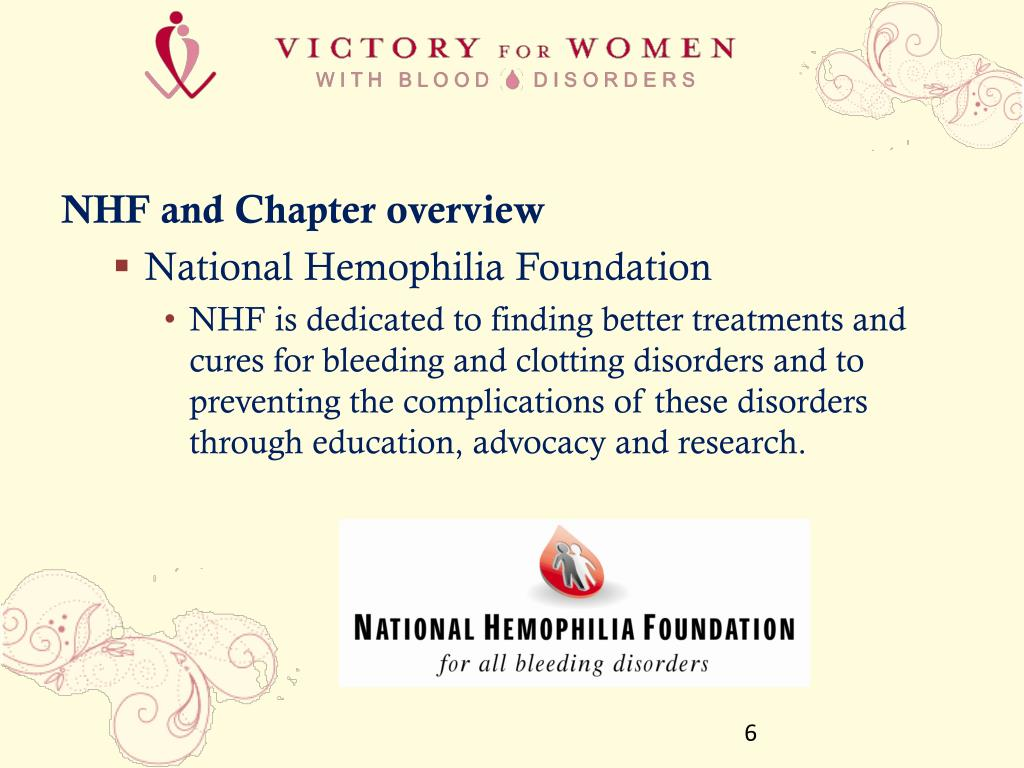 NHF and Chapter overview