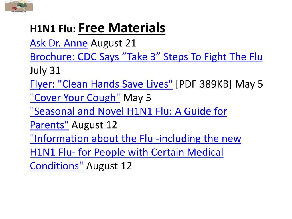 H1N1 Flu: