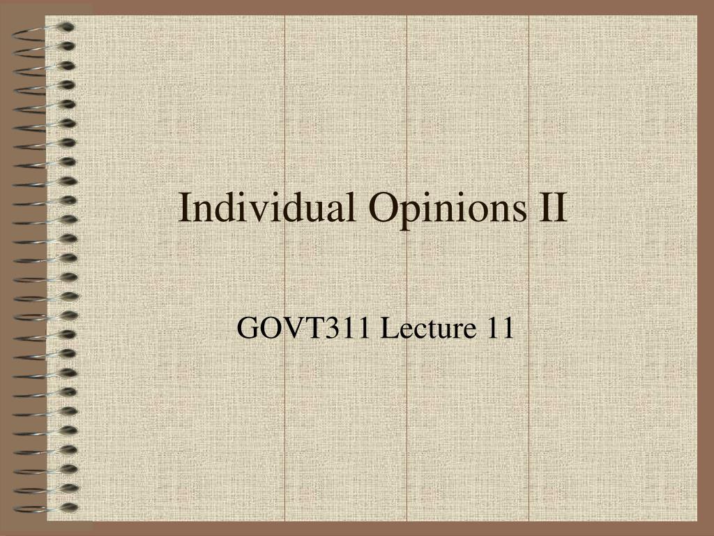 individual opinions ii l.