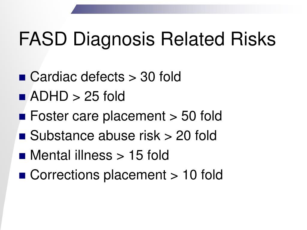 FASD Diagnosis Related Risks