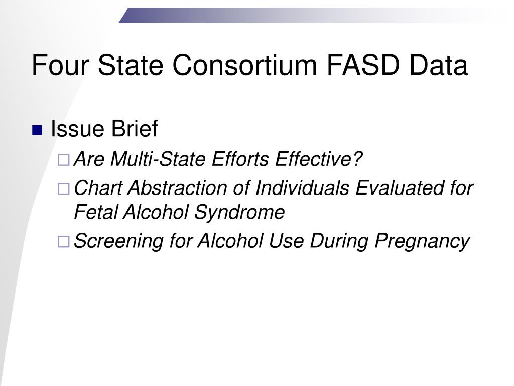 Four State Consortium FASD Data