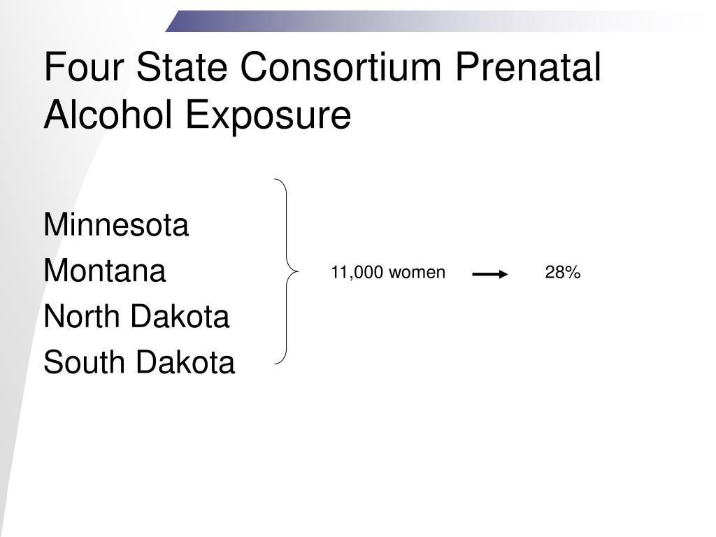 Four State Consortium Prenatal Alcohol Exposure