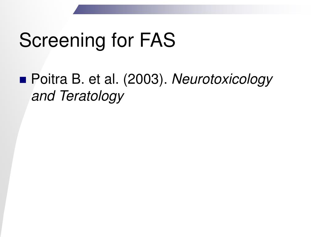 Screening for FAS