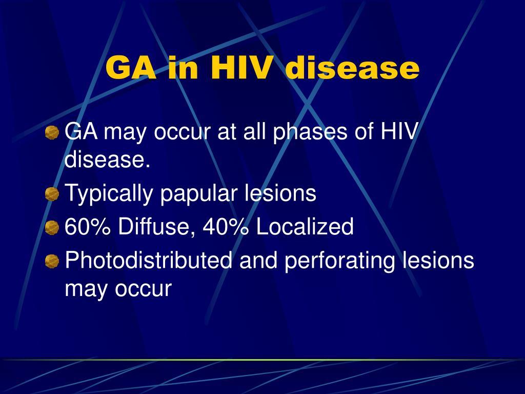 GA in HIV disease