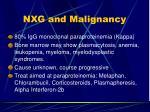 nxg and malignancy