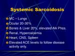 systemic sarcoidosis