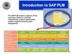 introduction to sap plm