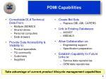 pdmi capabilities