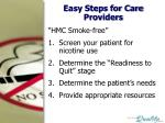 easy steps for care providers