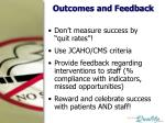 outcomes and feedback