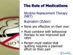 the role of medications