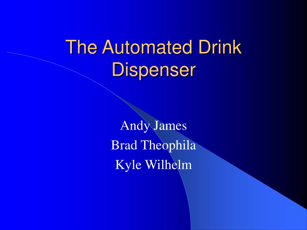 the automated drink dispenser l.