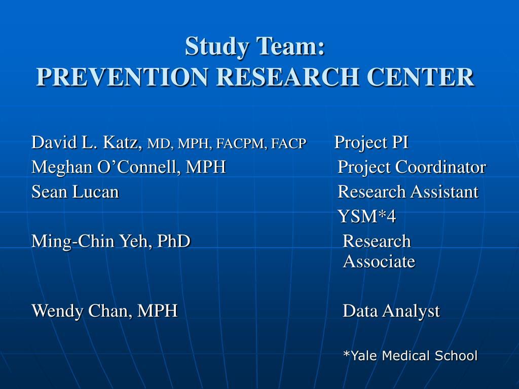 Study Team: