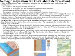 geologic maps how we know about deformation