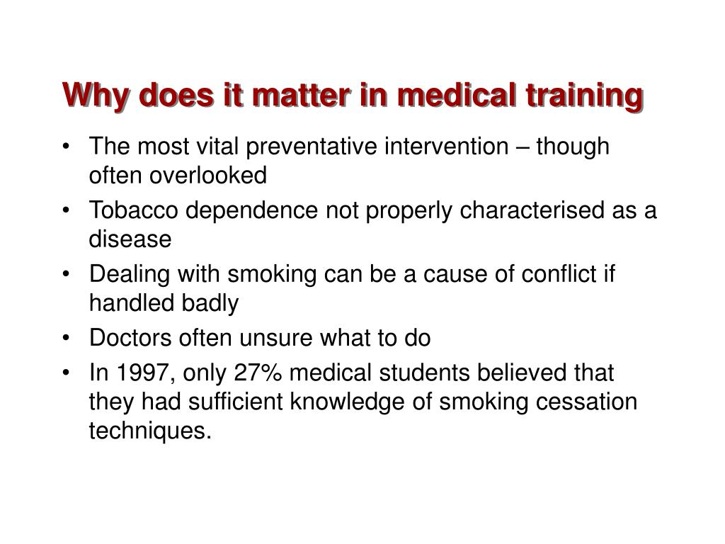 Why does it matter in medical training