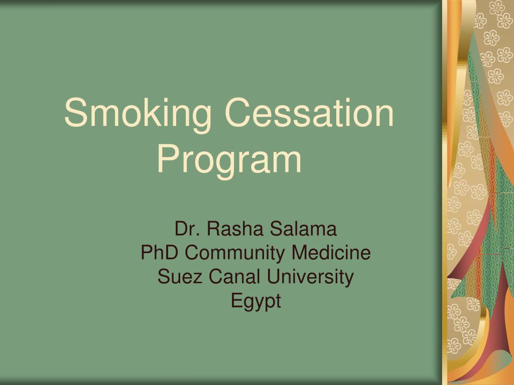 smoking cessation program l.