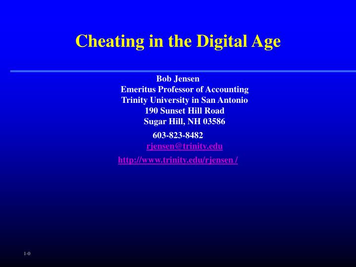 cheating in the digital age n.