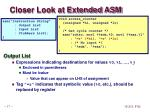 closer look at extended asm1