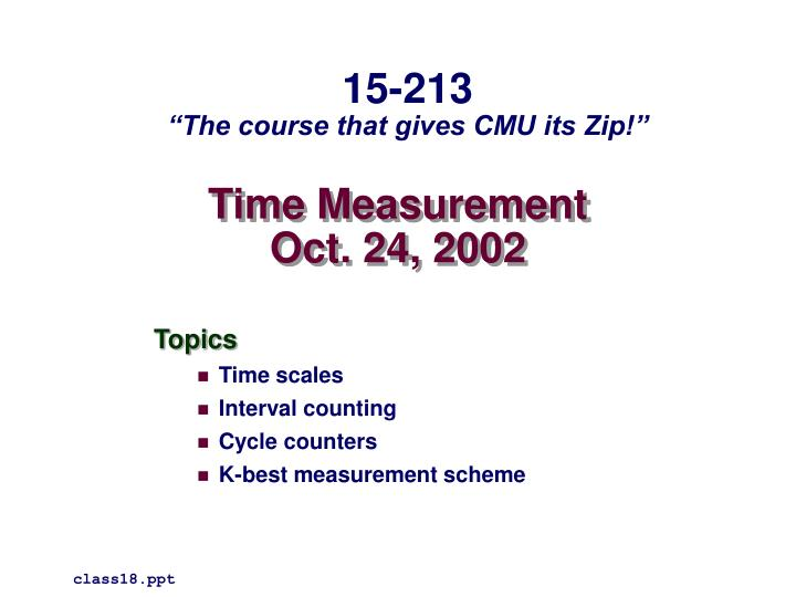 time measurement oct 24 2002 n.
