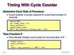 timing with cycle counter