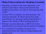 clinical intervention for smoking cessation