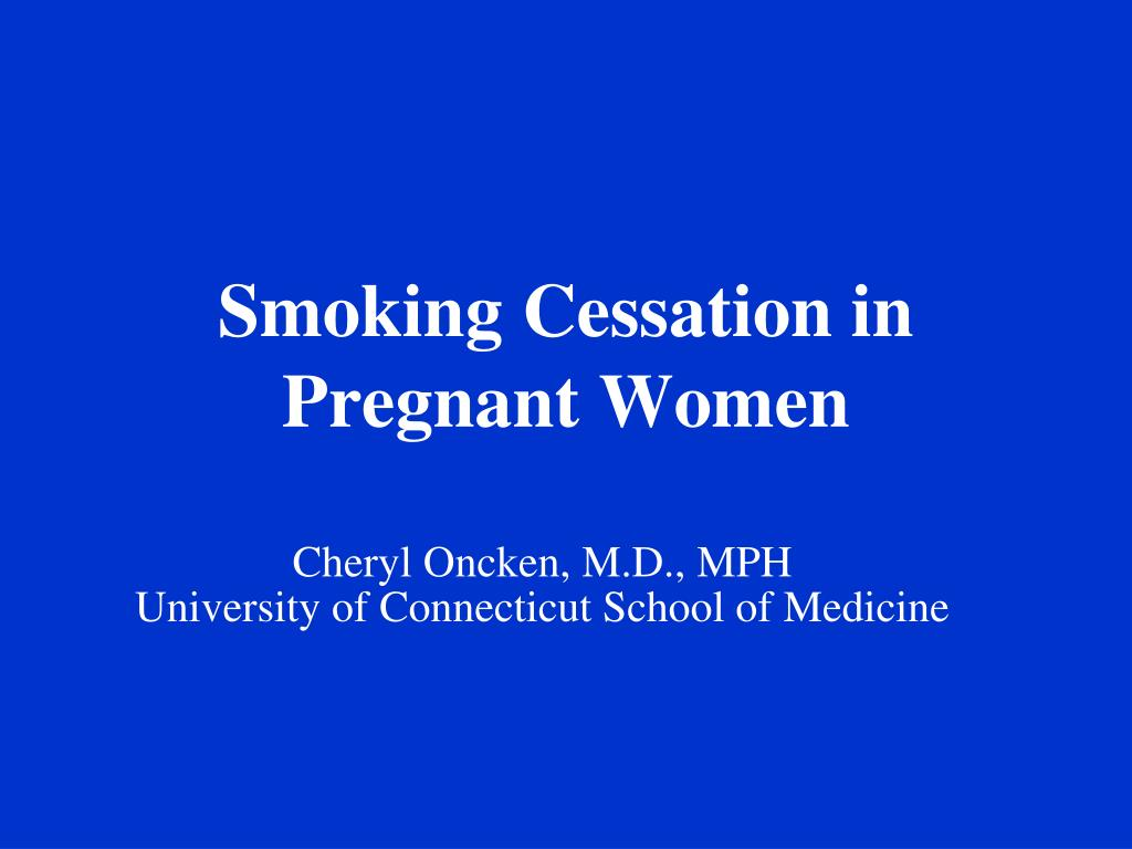 smoking cessation in pregnant women l.
