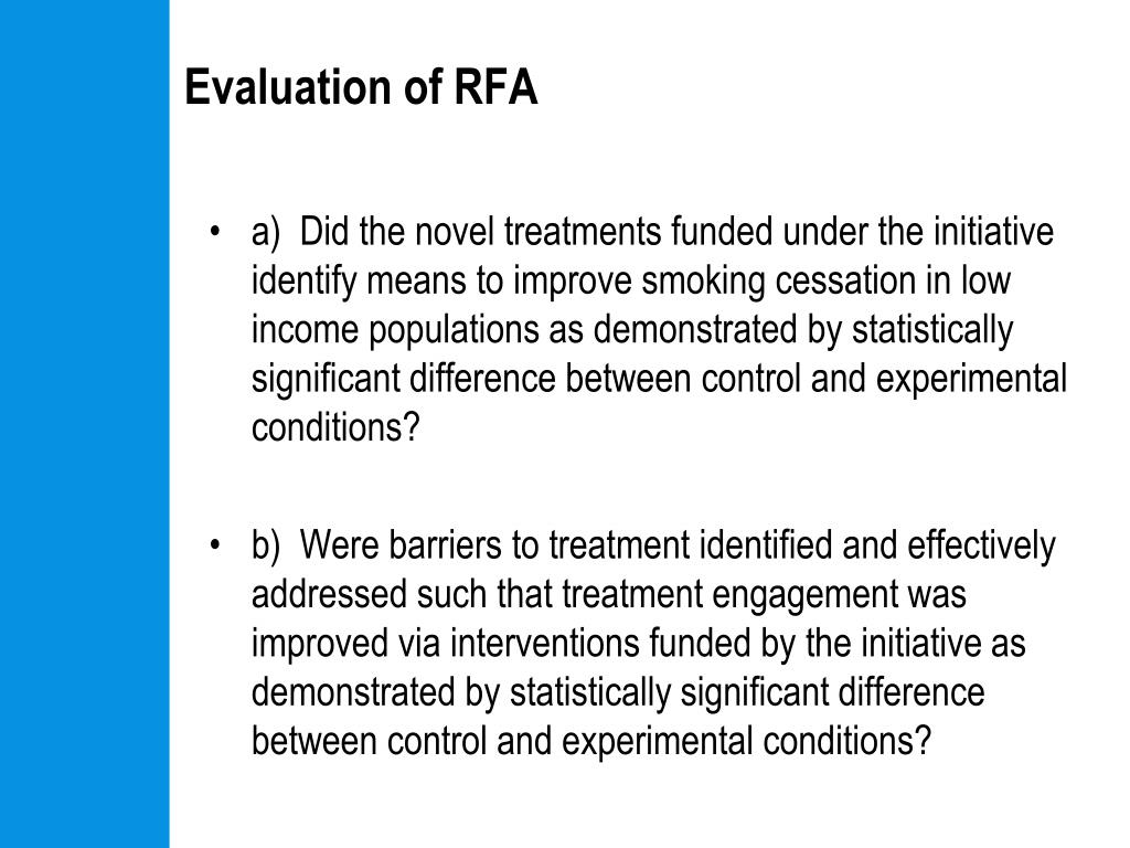 Evaluation of RFA