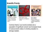 scientific priority