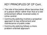 key principles of cp cont