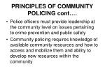 principles of community policing cont28