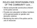 roles and responsibilities of the community cont75