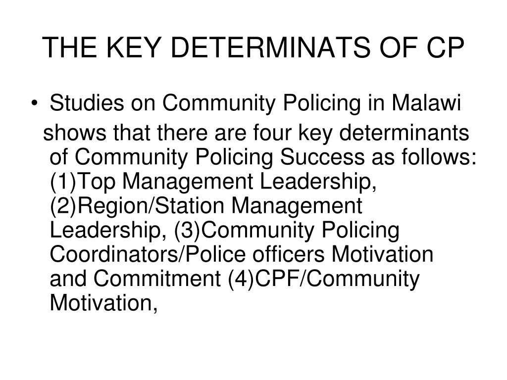 THE KEY DETERMINATS OF CP