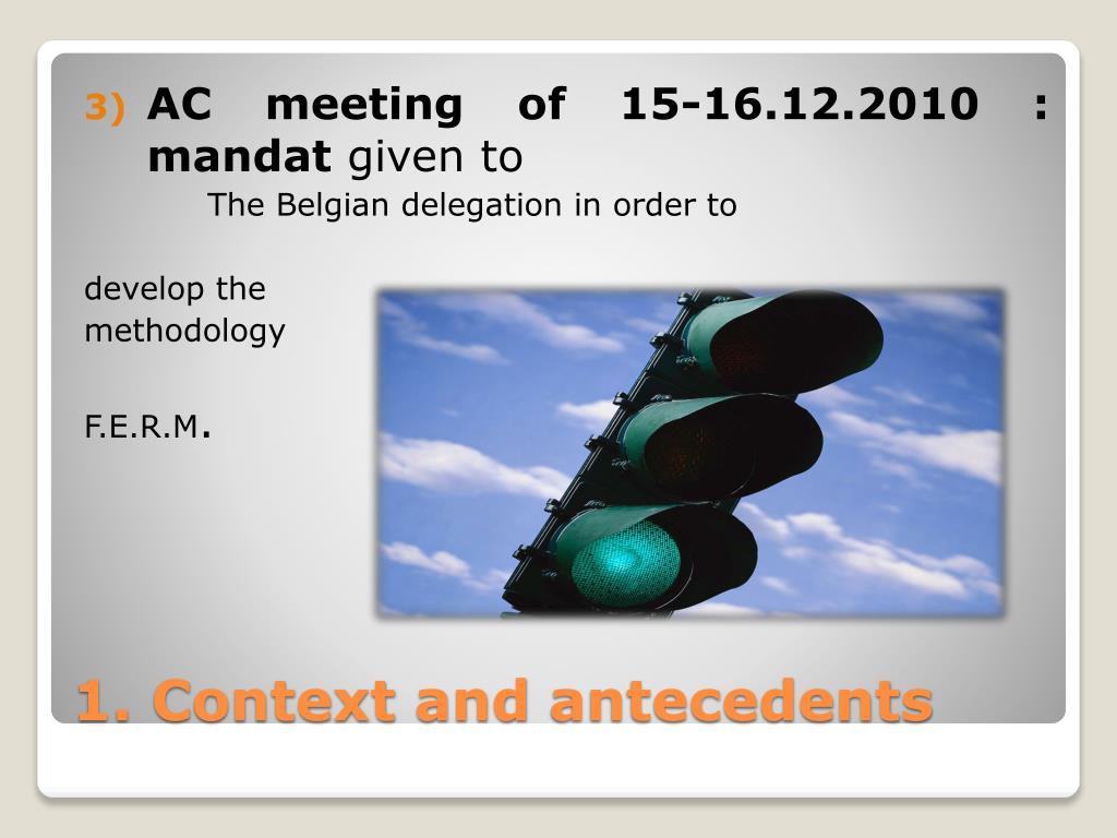 AC meeting of 15-16.12.2010 : mandat