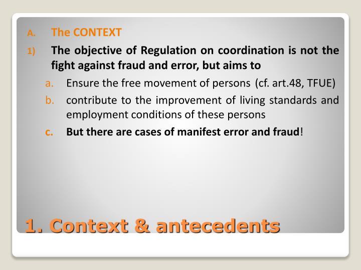 1 context antecedents