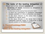 2 the methodology ferm possible tasks of the leading delegation