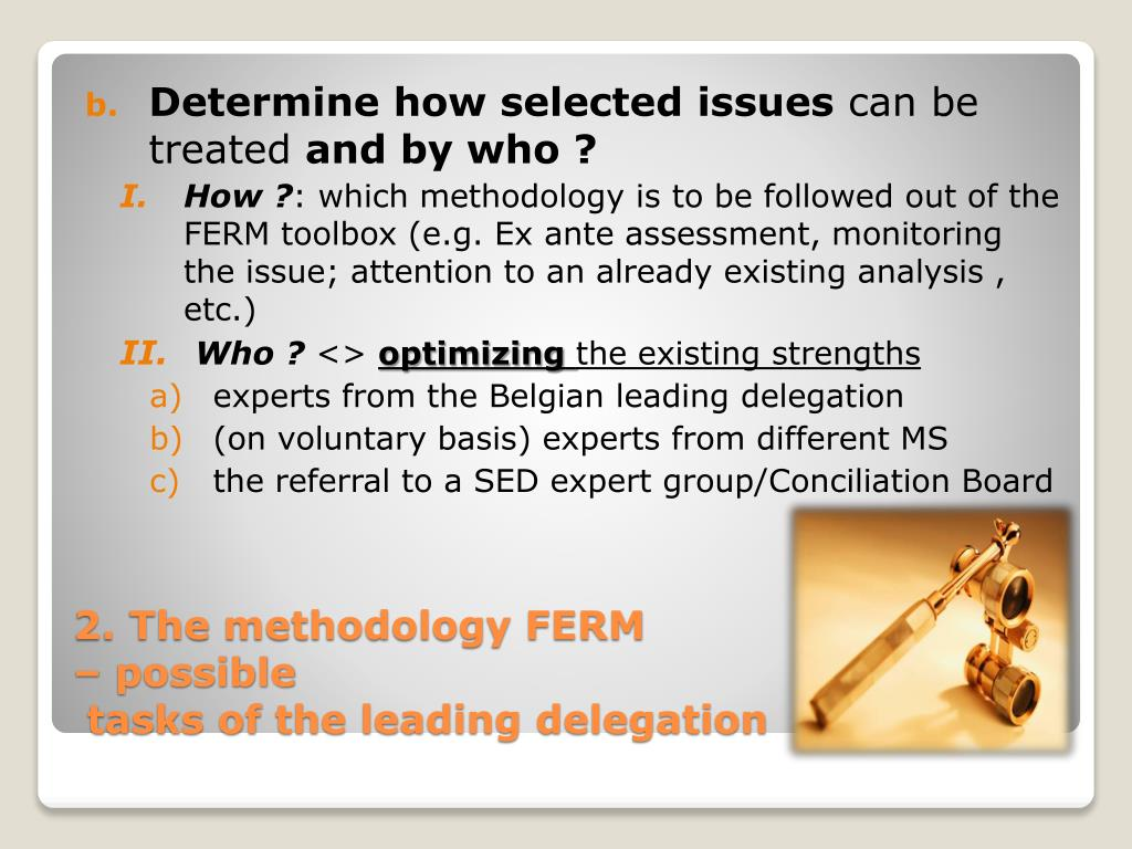 Determine how selected issues