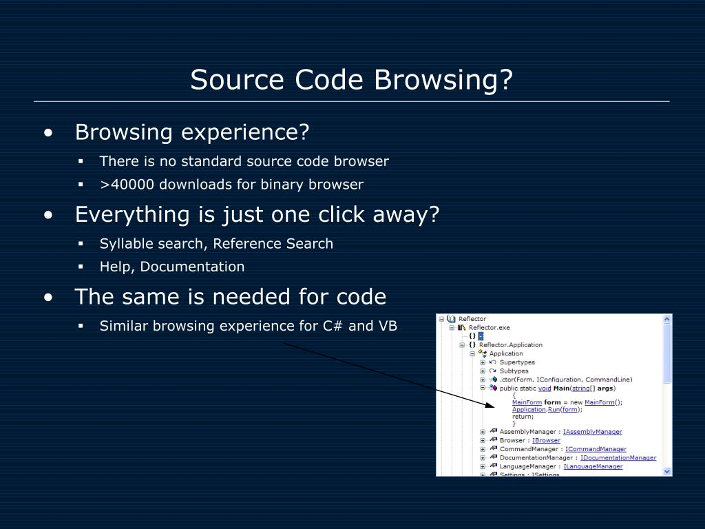 Source Code Browsing?