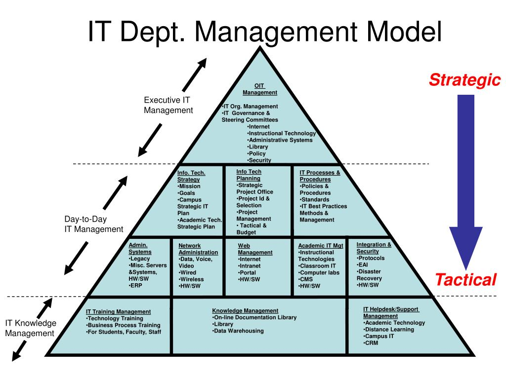 IT Dept. Management Model