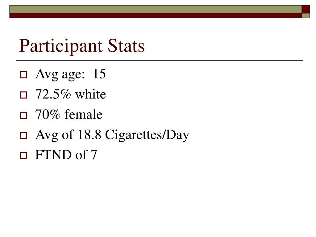 Participant Stats