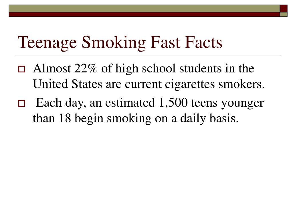 Teenage Smoking Fast Facts